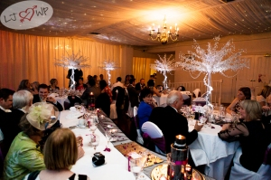large 5ft Crystal tree table centres for hire from Julia Charles event management.