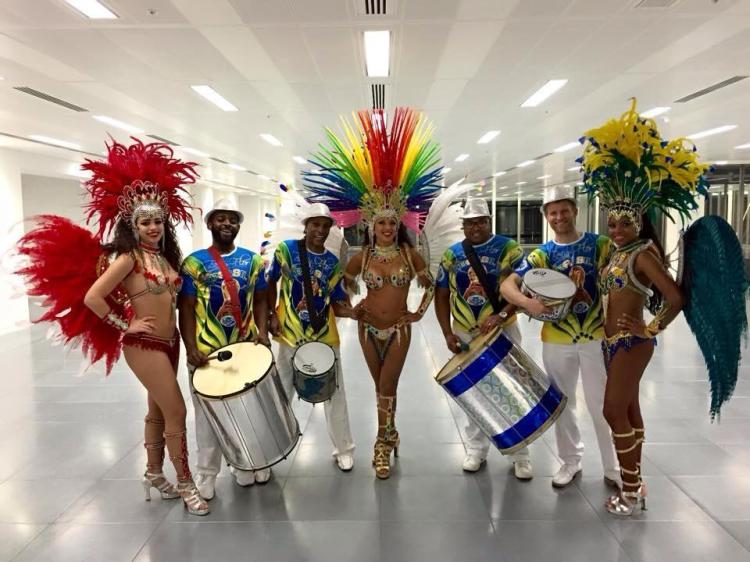 brazilian drummers and percussion performers. book brazillian inspored bands and musicians for rio and carnival themd entertainment hire