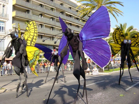 butterfly stilt walkers and parade themed entertainment and walkabout acts for hire