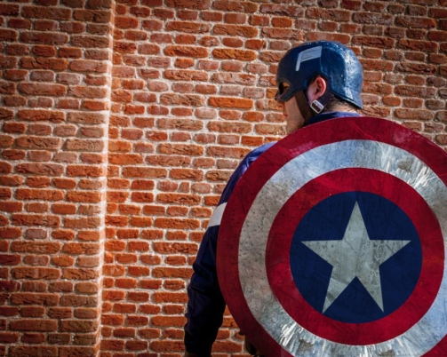 captain america Walkabout performer for hire London UK